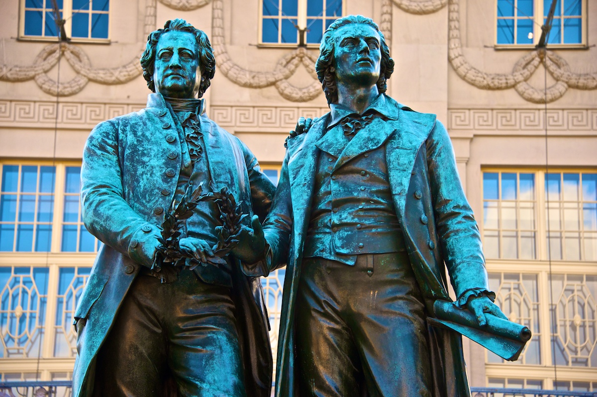 Goethe and Schiller, hero's of Weimar