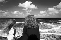 two girls on the Black Sea coast, Romania