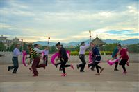 reharsel for dance, Confucian Temple