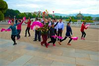 rehearsel for dance, Confucian Temple