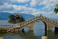 typical Chinese bridge, leading nowhere