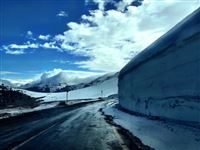 high pass with a lot of snow